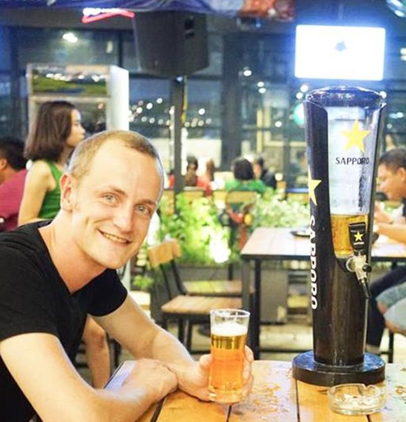 tháp bia sapporo 3 lít